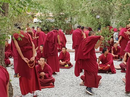 Debating of the monks at Sera Monastery, near Lhasa (3)