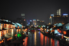 Wuxi - Both times (tcchang0825) Tags: china wuxi canal grandcanal nightview skyline