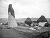 Drumcliffe, Co. Clare (National Library of Ireland on The Commons) Tags: robertfrench williamlawrence lawrencecollection lawrencephotographicstudio thelawrencephotographcollection glassnegative nationallibraryofireland drumcliffe coclare clare roundtower church graves ruins hay haystacks munster drumcliff drumcliffchurch drumcliffroundtower tombs graveyard cemetery ivy summer