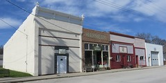 Storefront Block (Lucas, Iowa) (courthouselover) Tags: iowa ia masonicbuildings lucascounty lucas downtowns