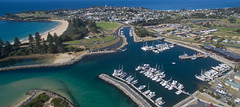 Bermy beckons (OzzRod (on the road again)) Tags: dji phantom3a quadcopter drone djifc300s aerial bermagui harbour township rockwall boats beach