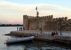 evening at the Nafpaktos harbour IMG_1748 (mygreecetravelblog) Tags: greece westerngreece mainlandgreece greecemainland nafpaktos naupactus town outdoor landscape harbor harbour port water bay
