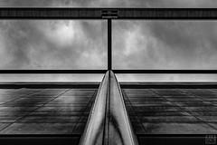 roof construktion -3- (MAICN) Tags: lines architektur building mono dach linien sw structure bw blackwhite monochrome geometrisch schwarzweis roof architecture einfarbig gebäude struktur geometry