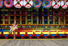 The Wait (ranzino) Tags: jerseyshore moreyspiers newjersey wildwood alone boardwalk games nj prizes shore vacation woman unitedstates us
