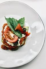 Zucchini and heirloom tomato lasagna (raw) (Alice Olive) Tags: aliceolive soupkitchen food raw vegan lasagne tomato basil