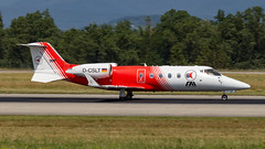 Learjet 60 D-CSLT FAI rent-a-jet (William Musculus) Tags: aircraft spotting airport basel mulhouse freiburg bsl mlh eap lfsb euroairport dcslt fai rentajet learjet 60 ambulance