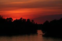 Muldrew sunset (scienceduck) Tags: 2018 scienceduck june ontario canada muskoka muldrew lakemuldrew sunset dock red orange