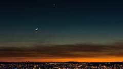Cityscape Sunset (docteurTonTon) Tags: cityscape sunset dijon france night light sky docteur tonton cloud orange couché soleil ville moon lune star étoile