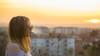 Love (kisicekpatrik) Tags: girl sunset smoke smoking hair sunglasses buildings bokeh sky city spring warm colors orange