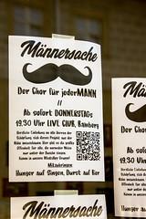 """Männerchor sucht """"bärtigen"""" Anschluss zwecks Singen in Bamberg (S. Ruehlow) Tags: bamberg bayern franken flyer gesuch zettelaktion männersache chor männerchor livemusik theuerstrase"""