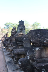 Stone figures on bridge to Angkor Thom (Buster&Bubby) Tags: unescoworldheritagesite siemreap angkorthom cambodia banyontemple khmerempire unesco world heritage site