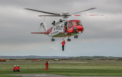 UK SAR S92 (Andy.Gocher) Tags: andygocher canon100d canon100dsigma18250 sigma18250 europe uk wales caernarfon airport aircraft helicopter sar s92 bristow sikorsky goodrich rescuehoist winch