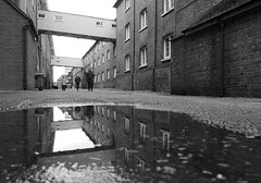 Chatham Dockyard (only lines) Tags: chatham dockyard kent puddle reflection