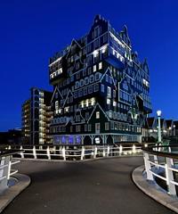70 Stacked Houses (Ducodaily) Tags: zaandam hotel noordholland holland nederland netherlands bluehour cityscape nightcrawler nikon tamron manfrotto blues lights