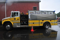 Amwell Valley Fire Company Tender 48 (Triborough) Tags: nj newjersey hunterdoncounty eastamwelltownship eastamwell ringoes avfc amwellvalleyfirecompany firetruck fireengine tanker tender tender48 freightliner 4guys