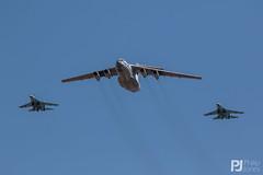 Ukrainian Air Force Su-27 58 and 71, IL-76 78820 (philrdjones) Tags: 2018 58 71 78820 aircraft airshow candid combat egva ffd fairford fighter flanker il76 il76md jet july midas raffairford riat royalinternationalairtattoo su27 su27p su27ub tanker ukraine ukrainianairforce