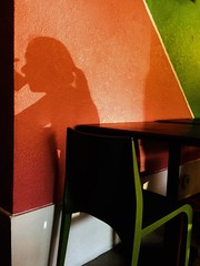 Playing With Shadows (alberthernandez163) Tags: photodaily dailyphotos justshoot justgoshooting photographyproject capturemoment ilovephotography colour colours shootingphoto beautifulphoto photoart artlover innovativephotography innovative colorphotograph colorphotos colorphoto avantgarde photoflickr artphotography photographyisart orange chairs photographersonflickr photography shadow restaurant furniture colorful colorphotography photooftheday