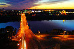 Kanavinsky bridge at the golden hour, Nizhny Novgorod, Russia (Andrey Sulitskiy) Tags: nizhnynovgorod russia oka россия нижнийновгород ока