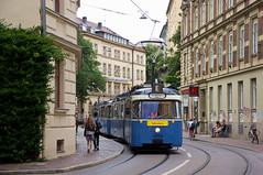 P-Zug 2006/3039 im Lehel (Frederik Buchleitner) Tags: 2006 3039 fahrschule fahrschulfahrt liniee munich münchen pwagen strasenbahn streetcar tram trambahn