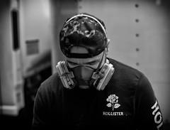 Street Painter (ROSS HONG KONG) Tags: art artist painter maskfumes painting street streetphoto black white bw blackandwhite noir blanc monochrome monochrom leica noctilux 50mm 095 nyc newyork ny manhatta