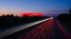 abgefahren (peter-goettlich) Tags: fusball stadion wm weltmeister footbal soccer stadium lichtspuren allianzarena traffic