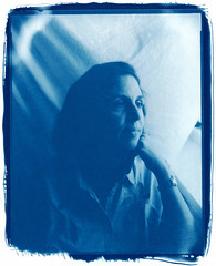 Old style portrait (bachirdebs) Tags: portrait 8x10 hp5 1600 rodinal cyanotype alternative large format blue