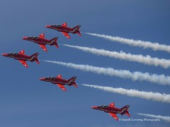 The Red Arrows at the Wales National Airshow 2018 06 30 #3 (Gareth Lovering Photography 5,000,061) Tags: wales airshow swansea beach raf theredarrows display olympus em10ii penf 45200mm 75300mm garethloveringphotography typhoon spitfire hurricane