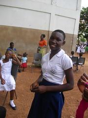 Vida, with smile (Hanstoo) Tags: ghana black teenage girl beauty smile schoolgirl pretty intelligent clever
