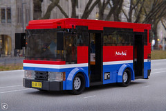 Metro Mini (Kamteey) Tags: lego moc render rendering blender blender3d b3d road bus local jakarta indonesia vehicle transport cad tree outdoor windshield minibus