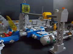 Abugida Spaceport (SaurianSpacer) Tags: lego moc spaceship spaceport ywing neoclassicspace classicspace