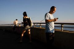 Narrows (dtanist) Tags: nyc newyork newyorkcity new york city sony a7 konica hexanon 40mm brooklyn bay ridge shore promenade fishing fisherman fishermen verrazano narrows bridge