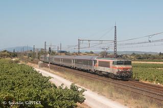 L'intercités 4655 Bordeaux - Marseille au crochet de la BB 7253