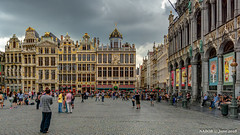 Brussels, Belgium: Grand Place where everyone gathers (nabobswims) Tags: be belgium brussels grandplace hdr highdynamicrange lightroom nabob nabobswims photomatix sel1018 sonya6000 bruxelles ilce6000