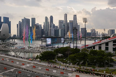 National Day Parade National Education Show 1 - Coloured Smoke from Stage Jul '18 (knowenoughhappy) Tags: national day parade ndp 2018 jul july singapore marina bay float floating platform outdoor rehearsals combined education show coloured smoke