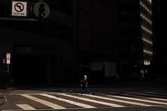 Except... (marq4porsche) Tags: street san francisco urban light walking crosswalk building lighting contrast city sf lonely shadow dark darkness canon 6d 50mm 12 l lens