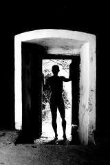 Portal (Avid Light [model] - Visit My Albums) Tags: male model nude art blackandwhite contrast doorway portal