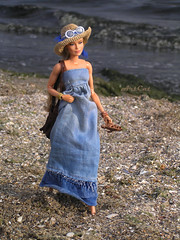 Along the beach... (ArtCat80) Tags: doll artcat antiope wonder woman barbie outdoor summer mattel sewing sea seaside