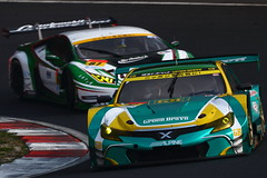No.52 埼玉トヨペットGreenBraveマークX MC with 埼玉トヨペット Green Brave (kikupom) Tags: supergt sgt motorsports race gt300