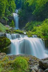 Giessbach Falls (Chrisdevillio) Tags: landscape nature water switzerland giessbachfalls swiss langzeitbelichtung longexposure summer june touristic waterfall schweizsuissegiessbach bern sightseeing touristicplace green brienz schweiz ch