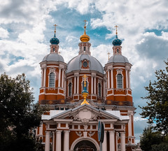 DSCF9624 (olegmescheryakov) Tags: place worship arch palace bell tower church column historic steeple historical dome religion romanesque architecture travel city building sky old europe tourism landmark history ancient blue clouds sunset skyline horizon light