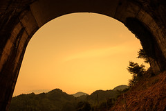 After the storm (mntkondr) Tags: fukuoka bridge sunset mountain fujifilm xh1