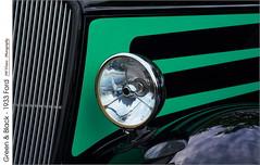 Green & Black – 1933 Ford (jwvraets) Tags: grimsby gateway carshow classiccars car automobile vintage ford 1933 grille hood chrome green stripes black custom opensource rawtherapeegimp nikon d7100 nikkor50mmf18d