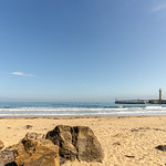 Whitby beach and pier. thumbnail
