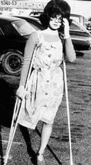 h5341-b100ft13 - The Platform shoe girl (jackcast2015) Tags: handicapped disabled disabledwoman cripledwoman onelegwoman oneleggedwoman monopede amputee legamputee crutches crippledwoman 1970s 1970sfashion