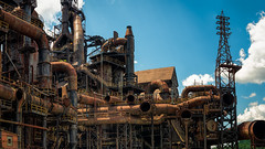 Steel Stacks - The old Bethlehem Steel plant. (Ed Rosack) Tags: factory pennsylvania usa ©edrosack bethlehem panorama buildingandarchitecture othermanmade architecture buildings structures