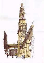 Torre de la Mezquita-Catedral (P.Barahona) Tags: urbansketchers urbansketcher urbano torre monumento arquitectura