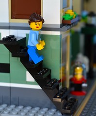 Going Down (linda_lou2) Tags: 365the2018edition 3652018 day178365 27jun18 365toyproject 178365 lego minifigure minifig toy stairs odc stairsorsteps
