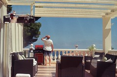 BBQ and beer (tomwatson1987) Tags: kodak yashica electro 35 electro35 spain gold alcossebre mediterranean kodakgold castellon bbq beer holiday film