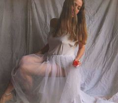🌹 ... (MargoLuc) Tags: morning dreams mood red rose white inspiration soft natural window light me self portrait girl woman anklet emotions pink romantic feeling artisawoman