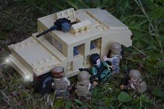 Evac (LegoInTheWild) Tags: moc afol lego war army minifigure sidan brickarms united bricks humvee